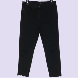 KanCan Black Distressed Skinny High Rise Jeans